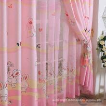 Proteção UV coelho coelho impressa cortinas de janela dos desenhos animados