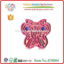 OEM Indoor Magnetic Maze Toy Butterfly/Bee/Cock/Panda/Number/Fish