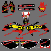 Dirt Bike Stickers&Motorbike&Motocross Stickers for Honda Crf250r Crf250 Motorcycle 2006 2007 (DST0157)