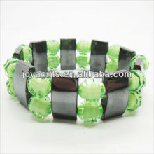 01B5009-4 / nuevos productos para 2013 / hematita spacer pulsera brazaletes / brazaletes hematita