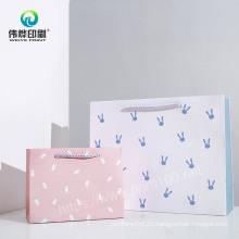 Promotional Paper Handbag Gift Bag Printing Service Packaging Bag with Ribbon Handle
