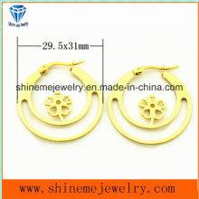 Pendiente de la joyería de la manera de las mujeres pendiente clásico de acero (ERS6916)