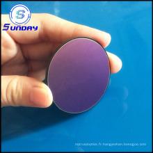 Coupure optique UV ronde de passage de filtre de couleur de long 420nm