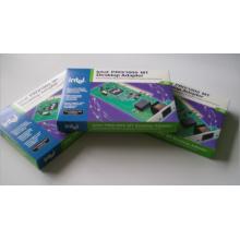 Caja de papel de cartón de impresión personalizada para el embalaje del adaptador