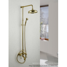 Goldener überzogener Badezimmer-Bad-Hahn