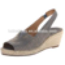 Estilo popular peixe tecido de algodão mulheres sapato sandálias verão