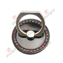 Black Metal reutilizável dedo anelar telefone Mount Phone titular (pH)
