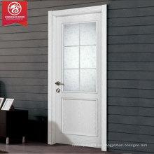 Puertas de Vidrio de Madera Blanca con Diseño de Rejillas Francesas