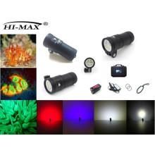 Patent Hi-max UV9 Magnetschalter IP68 120 Winkel Grad Video Tauchleuchte