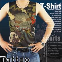 T-shirt de tatuagem falsa da moda