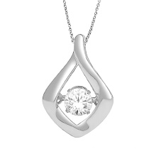 925 Sterling Silber Schmuck Tanzen Diamant Anhänger