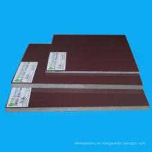 Hojas de plástico fenólico laminado de alto rendimiento de color marrón