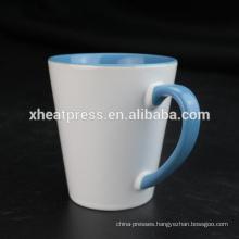 12oz ceramic cone blank inner rim mug