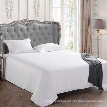 White Plain Flat Sheet for Hotel Bed Linen (WSFS-2016005)