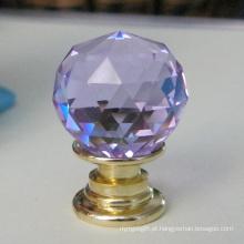 Botão de cristal roxo para armazenamento de jóias e caixa de presente