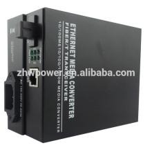 10/100/1000M Single Mode Single Fiber Media Converter , optical media converter with SC LC FC ST connector