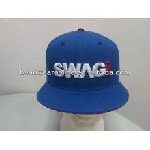 Пользовательские вышивки snapback шляпы / 3D вышивка snapback шапки / плоские шляпы snapbcak плоские
