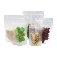 Made Custom Size Factory Proved Stand up Salt Packaging Small Zipper Pouch China Packaging Bags Food Package Coffee LDPE Accept