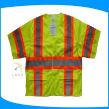 100% tecido de malha de poliéster retardador de chamas colete de segurança classe 3