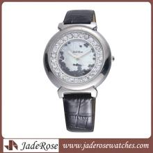 Leather Strap Legierung Gehäuse Uhr Damenuhr