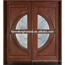 Oval Glass Entry Door Design