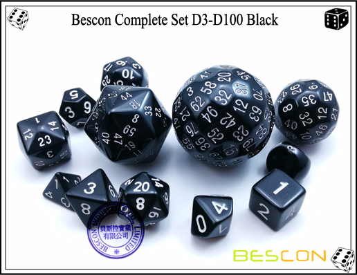 Complete Dice Set D3-D100 (14)