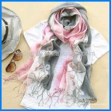 Fashion printed 100% linen scarf shawl