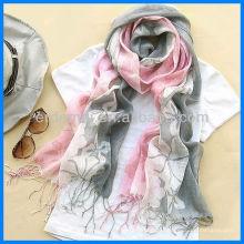 Мода напечатана 100% льняная планка шаль