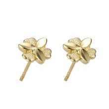 95961 xuping atacado moda barata design simples 24 k cor do ouro das mulheres brincos