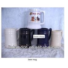 Haonai 2014 white custom ceramic beer stein mug