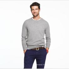 Pull en cachemire à manches longues pour hommes, col rond en tricot pur cachemire