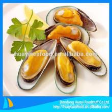 Fournisseur de fruits de mer chinois fournissent une demi-moule à moitié congelée Belle qualité