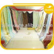 Tecidos de rendas africanos de algodão por atacado de alta qualidade / tecido de desconto de renda voile suíça africana e seca suíça / material têxtil barato