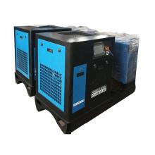 250L 300L Air tank Environmentally Air Dryer 15KW Skid-mounted Screw Compressor
