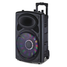 Big Power Mobile Square Trolley Speaker con batería de litio, micrófono inalámbrico para fiesta al aire libre 6814D