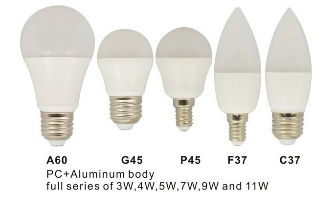 LED light bulbs come in all different shapes and varieties
