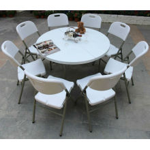 Wholesale Low Price 5ft Plastic Round Banquet Folding Double Table (blow mold, outdoor, catering)