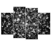 Черные и белые листья искусства печати / Wall Decor холст / холст Giclee печать
