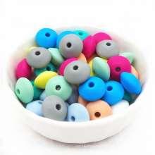 Wholesale Non Toxic Teething Diy Soft Bulks Natural Pacifier Clip Baby Bpa Free Food Grade Teether Kit Abacus Silicone Bead