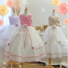-Линии бальное платье девочка платье Оптовая продажа горячая распродажа индивидуальные детские платья FGZ37 цветок девочки платья для девочек 10 лет