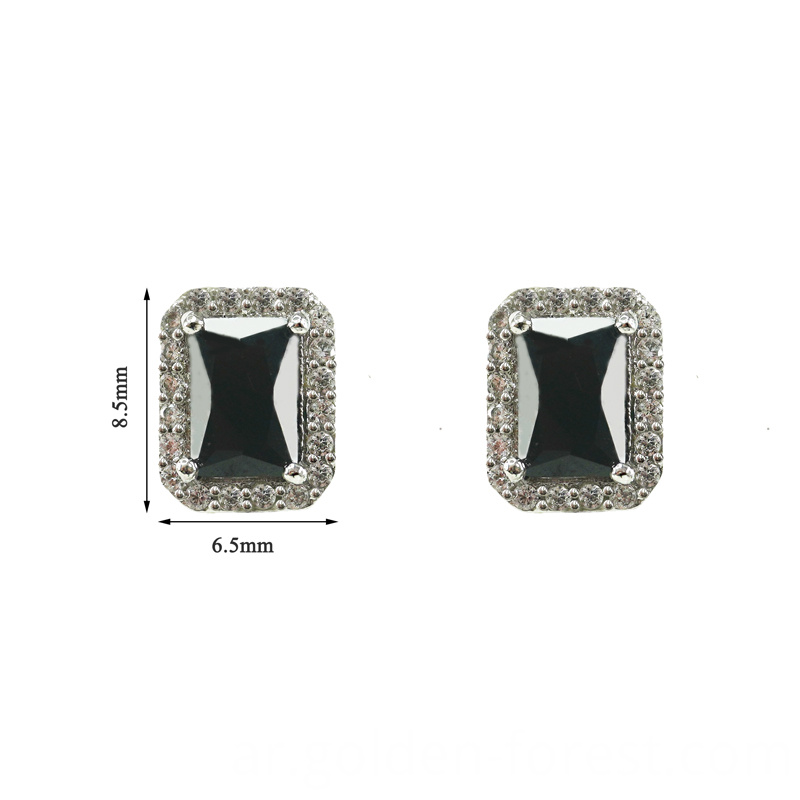 square rectangle black stud simple