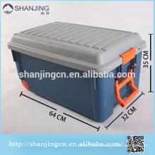 85Lplastic storage box bin with locking lid/ Turnover box