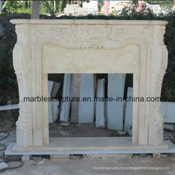 Бежевый мраморный камин Mantel Surround (SY-MF002)