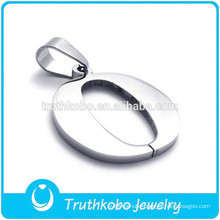 Letter O Pendant fashion stainless steel pendant silver charm for necklace 2016 summer trending