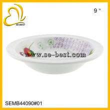 100% weiße Melamin Reisschale, Melamin Schüssel, Melmaine Schalen