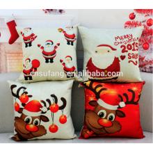 cubiertas del amortiguador del lino de la Feliz Navidad al por mayor