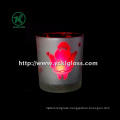 Color Double Wall Glass Candle Votive by SGS (6.5*7*8)