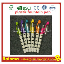 Plastic Liquid Fountain Pen with Nice Print Color