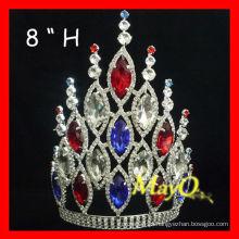Rhinestone cristal pageant coroa & tiara