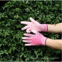 SRSAFETY 13g цвет перчаток работы перчатка / розовая садовая перчатка